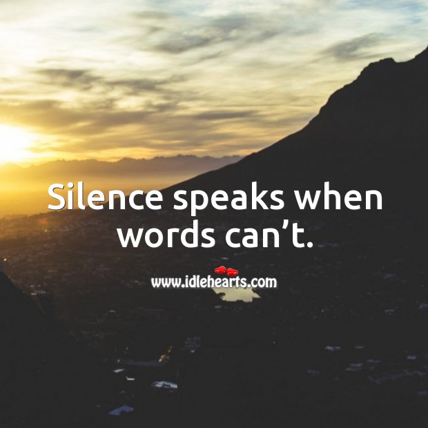 Silence speaks when words can't. Image
