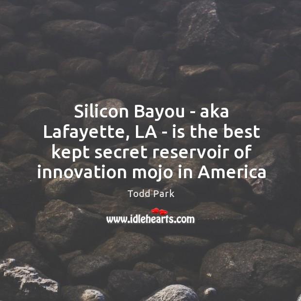 Image, Silicon Bayou – aka Lafayette, LA – is the best kept secret