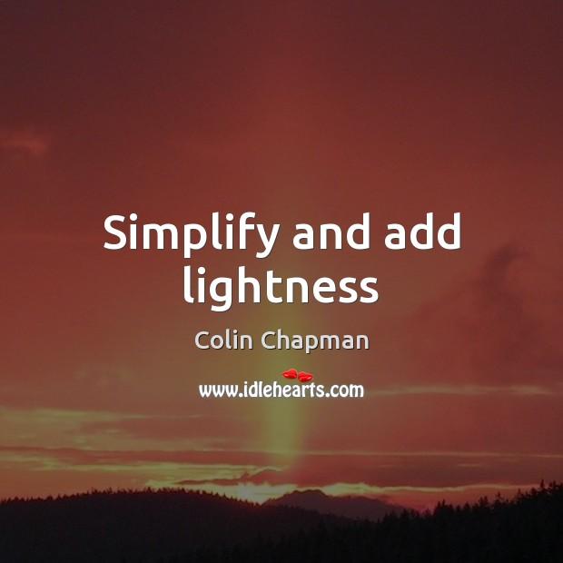 Simplify and add lightness Image
