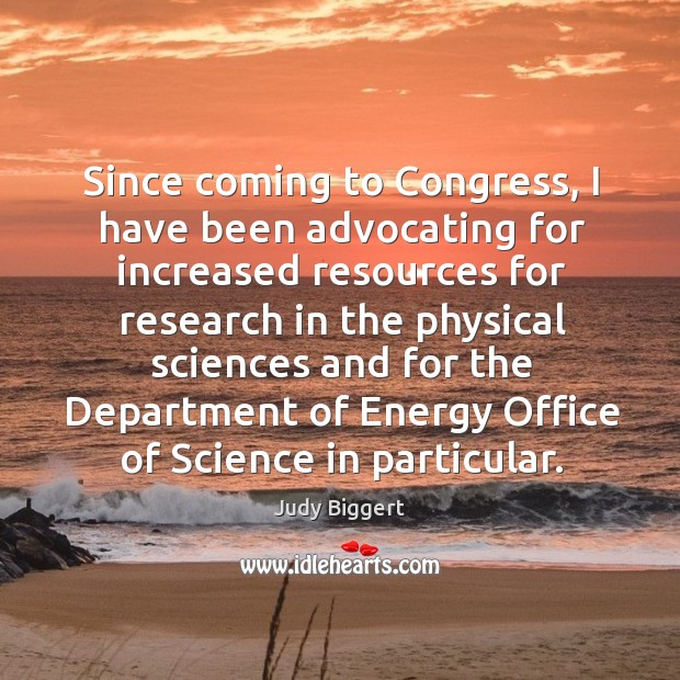 Since coming to congress, I have been advocating for increased resources for research Image