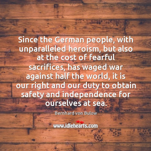 Since the german people, with unparalleled heroism, but also at the cost of fearful sacrifices Image