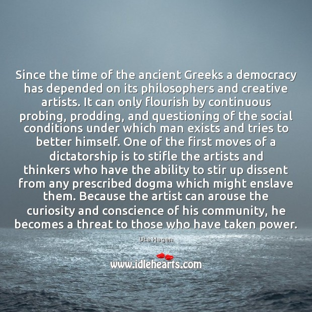 Image, Since the time of the ancient Greeks a democracy has depended on