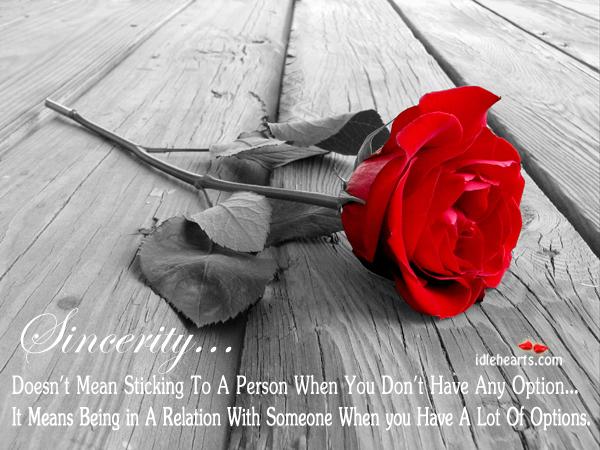 Sincerity in love Image
