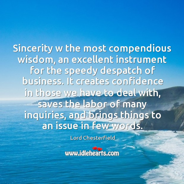 Sincerity w the most compendious wisdom, an excellent instrument for the speedy Image