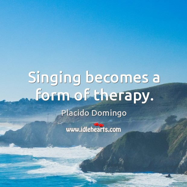 Singing becomes a form of therapy. Image