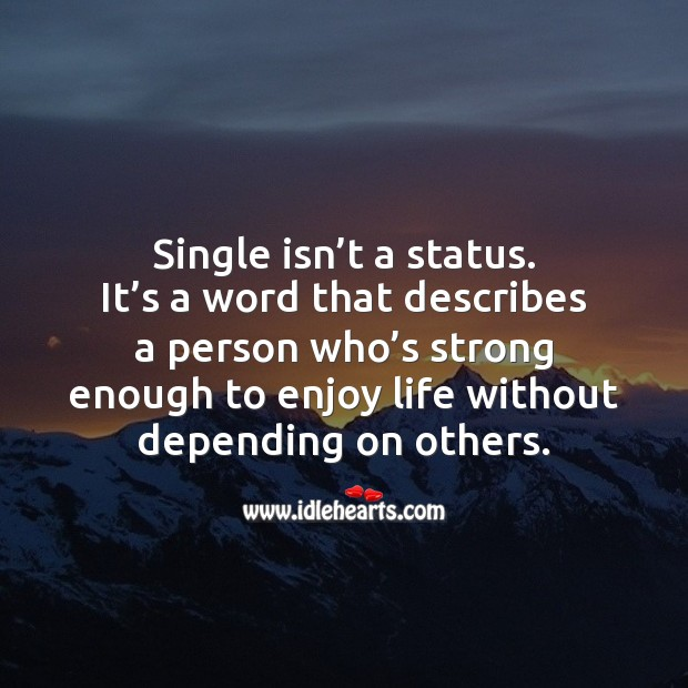Image, Single isn't a status.