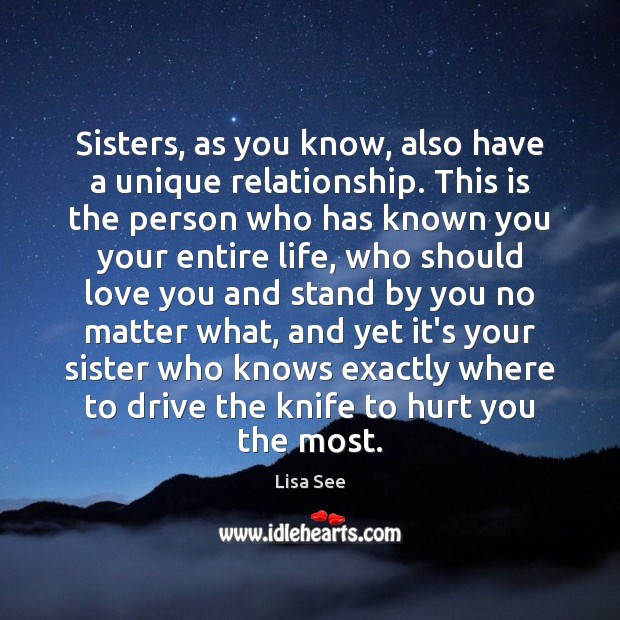 Image, Sisters, as you know, also have a unique relationship. This is the