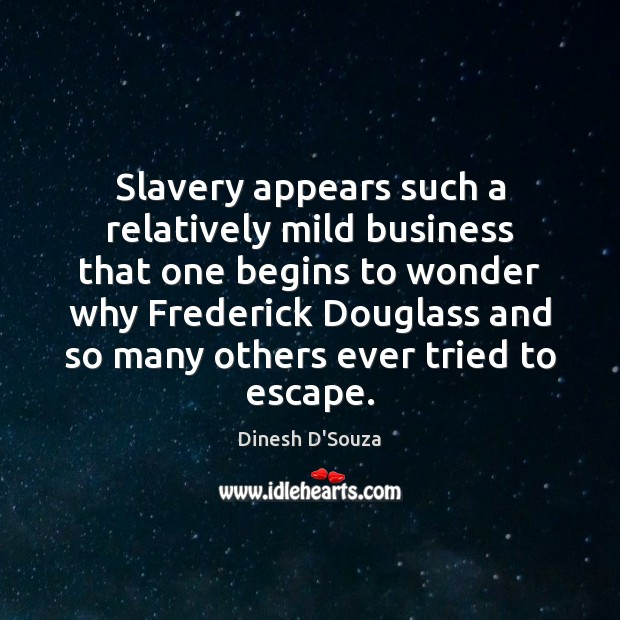 Slavery appears such a relatively mild business that one begins to wonder Image