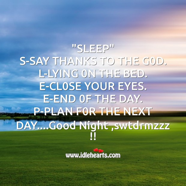 """sleep""   s-say thanks to the g0d. Image"