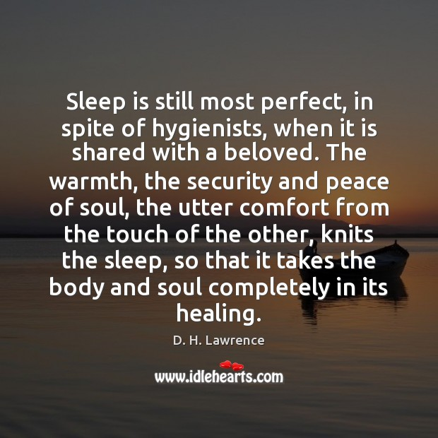 Sleep is still most perfect, in spite of hygienists, when it is Sleep Quotes Image