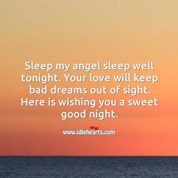 Sleep my angel sleep well tonight. Image