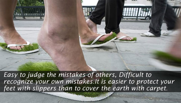 Easy to judge the mistakes of others. Image