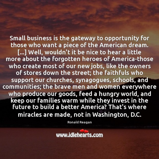 Image about Small business is the gateway to opportunity for those who want a