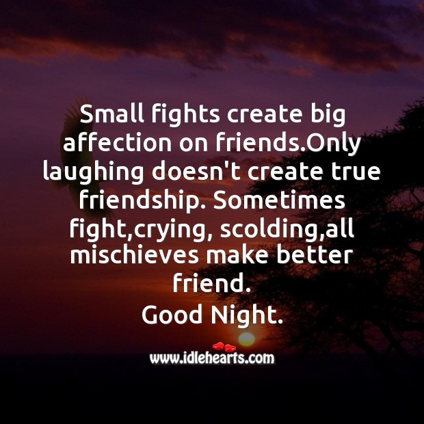 Small fights create big affection Image