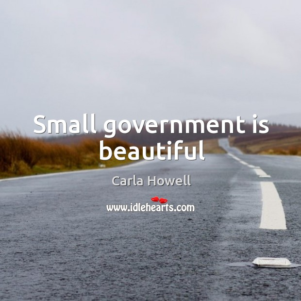 Image, Small government is beautiful