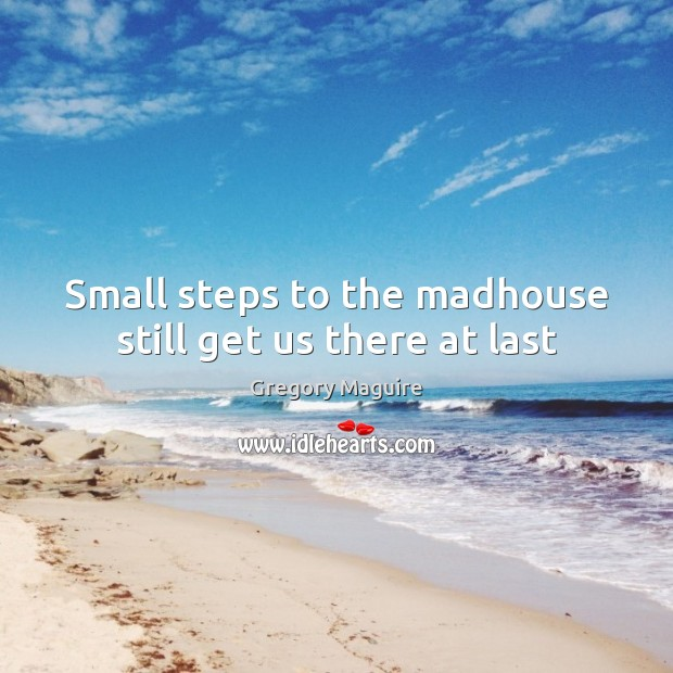 Small steps to the madhouse still get us there at last Image