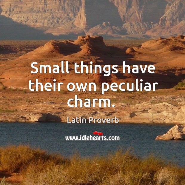 Image, Small things have their own peculiar charm.