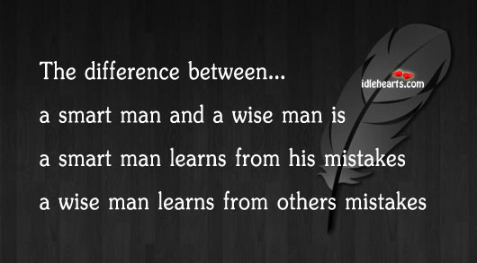 Smart Man Vs Wise Man