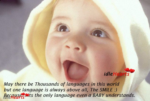 Simle – The Only Language That Even a Baby Understands