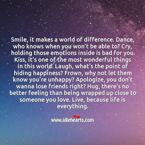 Smile, it makes a world of difference. Image