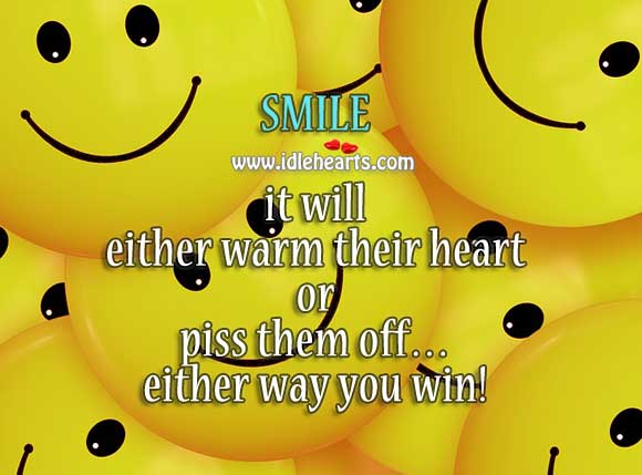 Image, Smile to win over.
