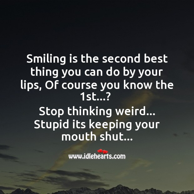 Smiling is the second best thing you can do by your lips Funny Messages Image
