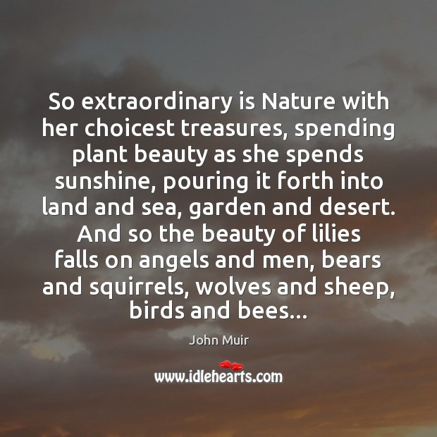 Image, So extraordinary is Nature with her choicest treasures, spending plant beauty as
