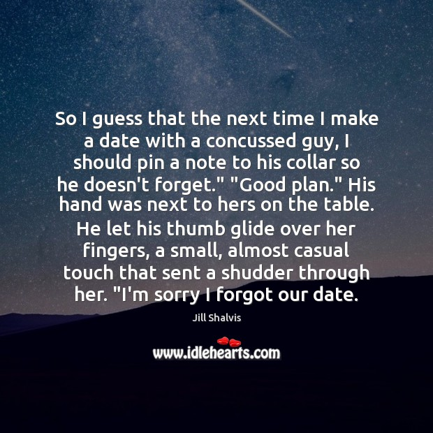 So I guess that the next time I make a date with Image