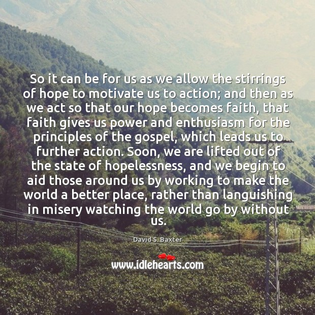 So it can be for us as we allow the stirrings of Image