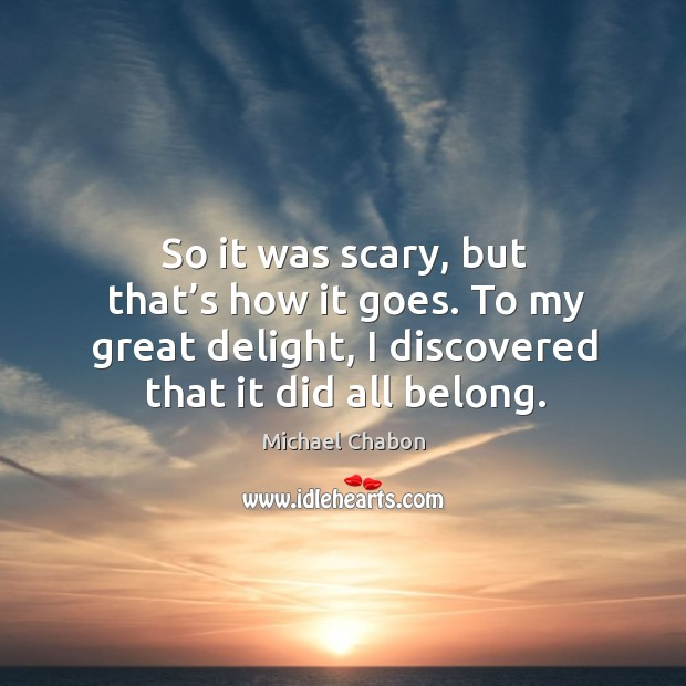 So it was scary, but that's how it goes. To my great delight, I discovered that it did all belong. Image
