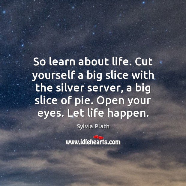 So learn about life. Cut yourself a big slice with the silver Image
