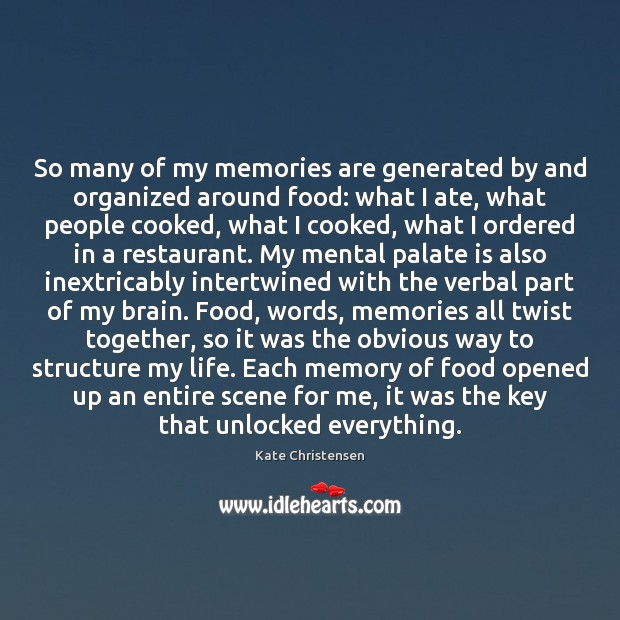 So many of my memories are generated by and organized around food: Image
