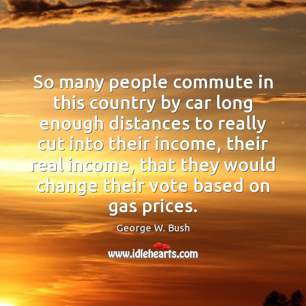 Image, So many people commute in this country by car long enough distances
