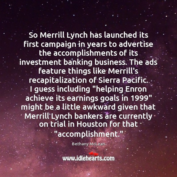 Image, So Merrill Lynch has launched its first campaign in years to advertise
