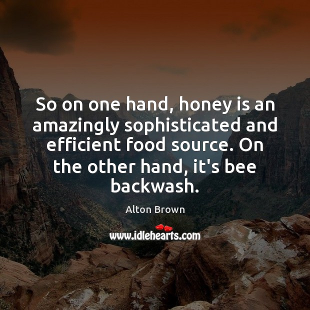 So on one hand, honey is an amazingly sophisticated and efficient food Image