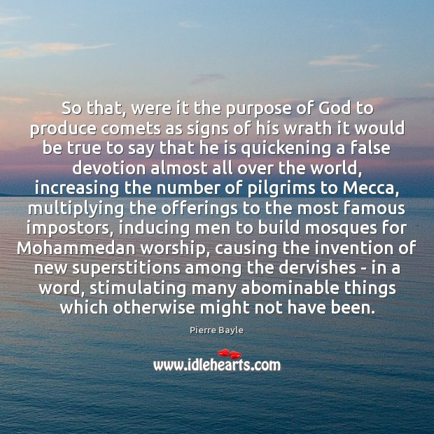 Image, So that, were it the purpose of God to produce comets as