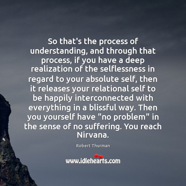 So that's the process of understanding, and through that process, if you Image