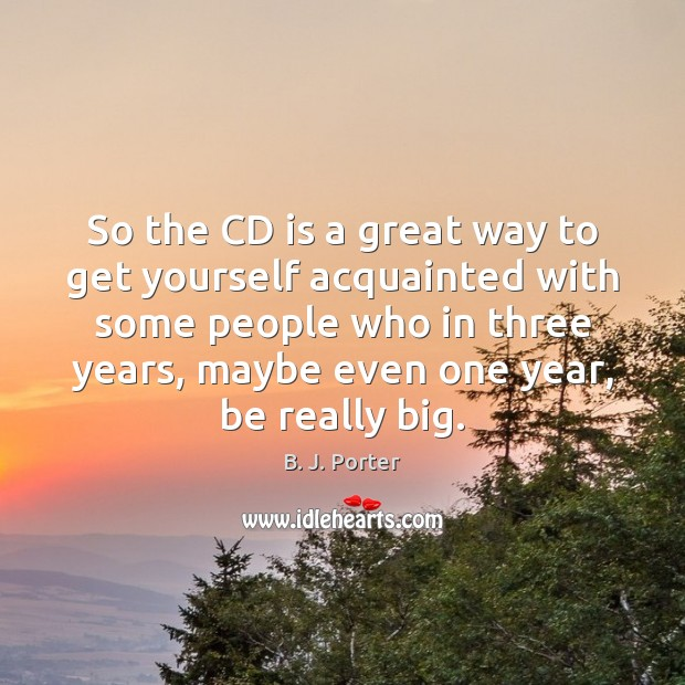 Image, So the CD is a great way to get yourself acquainted with