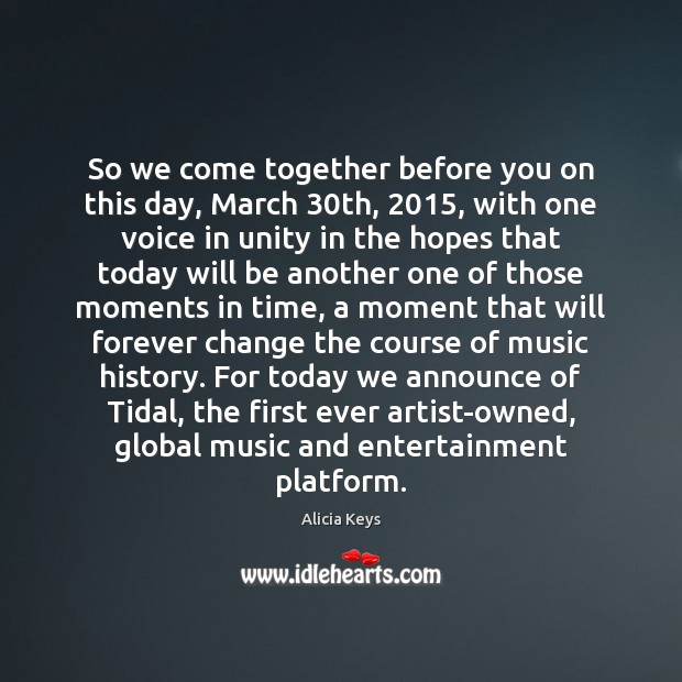 Image, So we come together before you on this day, March 30th, 2015, with