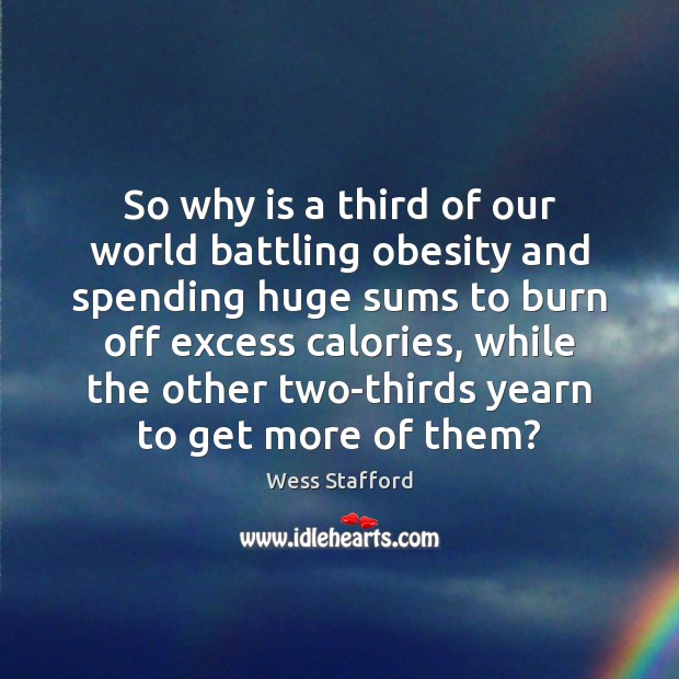 Image, So why is a third of our world battling obesity and spending