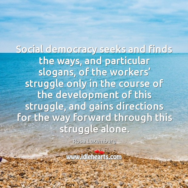 Image, Social democracy seeks and finds the ways, and particular slogans