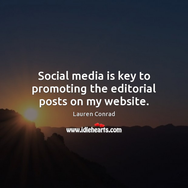 Image, Social media is key to promoting the editorial posts on my website.