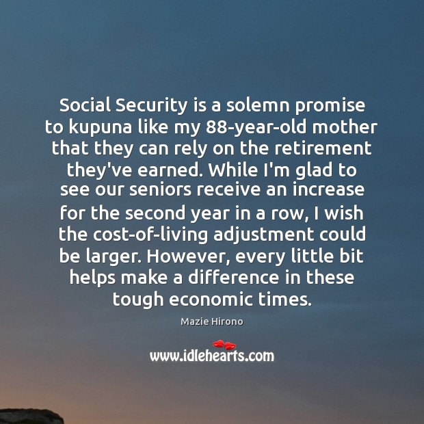Social Security is a solemn promise to kupuna like my 88-year-old mother Image