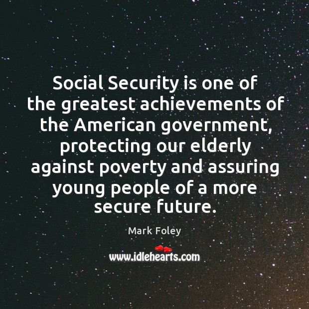 Image, Social security is one of the greatest achievements of the american government