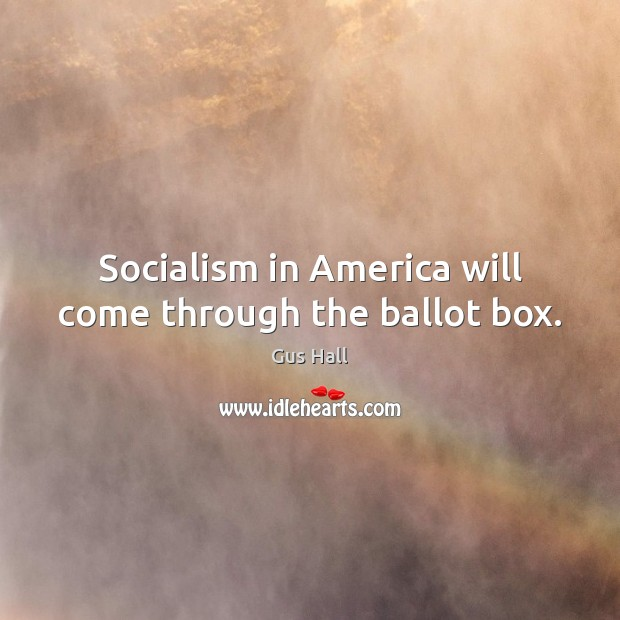 Socialism in America will come through the ballot box. Image