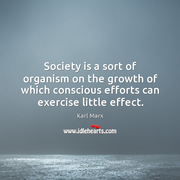 Society is a sort of organism on the growth of which conscious Image