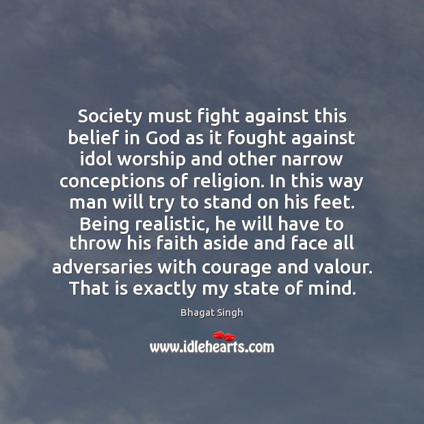 Image, Society must fight against this belief in God as it fought against
