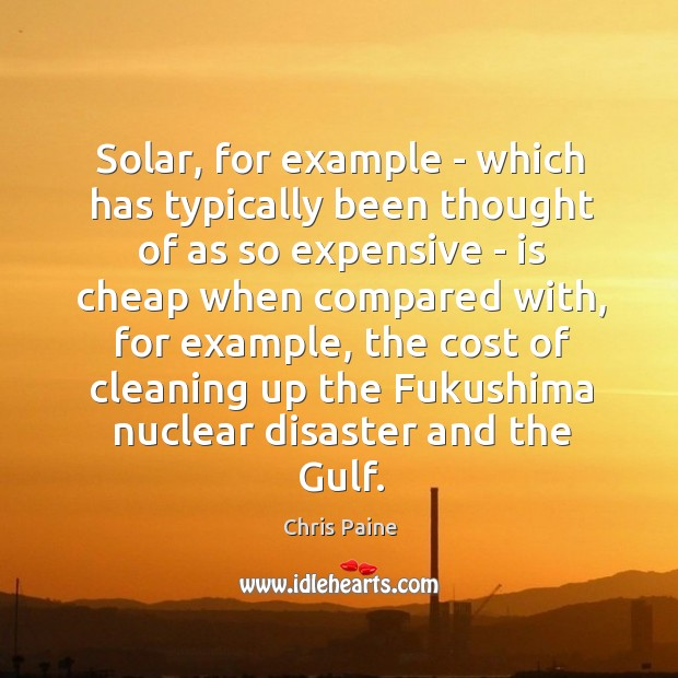 Solar, for example – which has typically been thought of as so Image