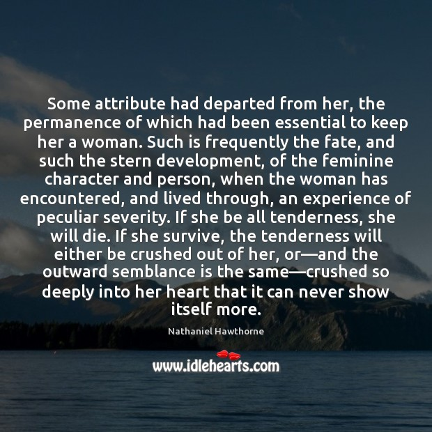 Some attribute had departed from her, the permanence of which had been Image