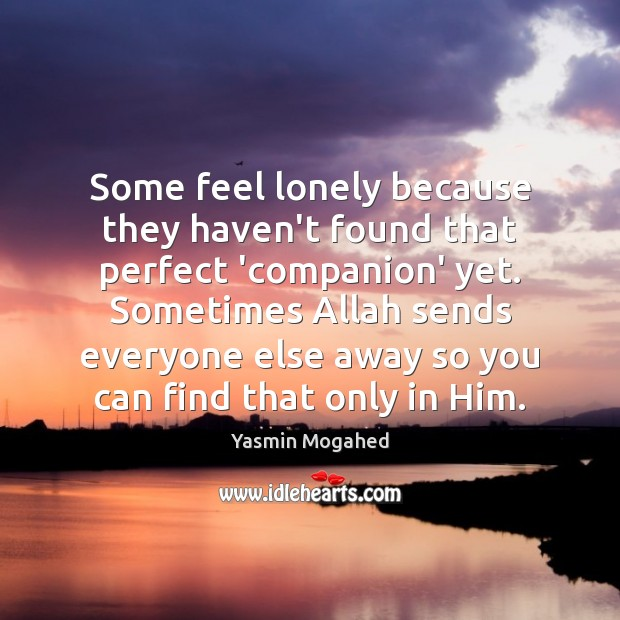Image, Some feel lonely because they haven't found that perfect 'companion' yet. Sometimes